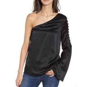 Parker Ripley One-Shoulder Silk Blouse